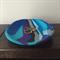 Blue swirl trinket dish