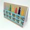 Birthday Card - Candles and Printed Ribbon