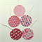 Set of 5 assorted round gift tags with strings - The Pinks