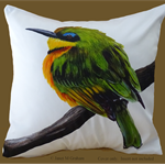 Cushion Cover Little Bee Eater Bird Wildlife, Colourful Throw Pillow, Decorative