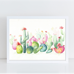 Cactus Landscape,Original Watercolor Painting, A4, Succulents, Cactus Decor