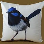 Cushion Cover, Fairy Wren, Bird, Wildlife, Colourful Throw Pillow, Decorative,