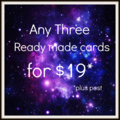 Card Pack *BULK BUY* Select any three pre-made cards