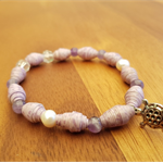 Purple Rain AYA Bracelet - Handcrafted Beads - Great gift for Christmas