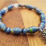 Blue Crystals AYA Bracelet - Handcrafted Beads - Great gift for Christmas