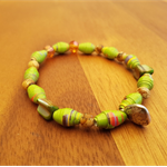 Lime Splice AYA Bracelet - Handcrafted Beads - Great gift for Christmas