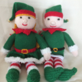Harold the Christmas Elf- hand knitted.