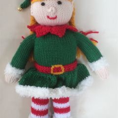 Hannah the Christmas Elf- hand knitted.