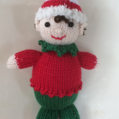 Holly the Christmas Elf- hand knitted.