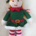 Hannah the Christmas Elf- hand knitted.