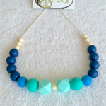 Silicone teething necklace - sea green