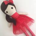 Meet Holly ~Christmas  cloth doll