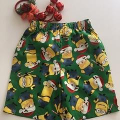 Size 6 - Xmas Minions Shorts