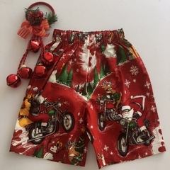 "Size 4 - ""Chopper Santa"" Christmas Shorts"