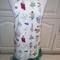 Ladies medium size apron with botanical flowers & herbs