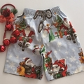 "Size 4 -""Racing Santa"" Christmas Shorts"