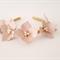 Dusk Pink Leather Crown,Headband, Leather Flower Headpiece, Wedding Fascinator