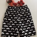 Size 5 & 6 - 'Merry Moustaches' Christmas Shorts