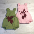 Made to Order - Little Romper & Booties - Hand Knitted