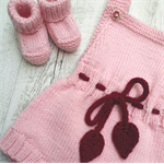 Little Romper & Booties - Hand Knitted - Made to Order