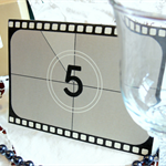 Hollywood themed Wedding Table Numbers - Set of 5