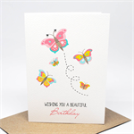 Birthday Card Girl - Butterflies - HBC219