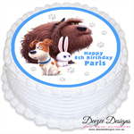 The Secret Life of Pets Personalised Round Edible Cake Topper - PRE-CUT