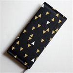 2017 Slimline / Hand Bag Diary / Planner - Black, gold & white triangles.