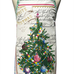 Metro Retro Christmas Tree & Baubles Tea Towel Apron . Gift Idea