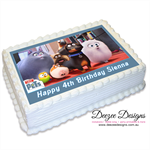 The Secret Life of Pets Personalised A4 Edible Icing Cake Topper