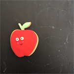 'Happy Apple' teacher thank you cookie - individual gift box