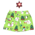 Christmas Shorts Boys Shorts Santa & Friends in Lime Green Sizes 00-3