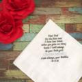 Wedding Handkerchief; ;personalised Hanky; father of bride gift
