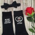 don't be late;groom socks; personalised wedding socks;wedding socks; groom gift