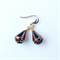 Lapis Lazuli and Coral Nepalese Earrings