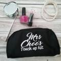 Makeup purse; personalised makeup bag; brides gift; bridal party gift;
