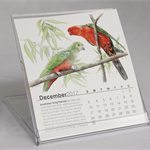 2017 Desk Calendar Australian wildlife conservation - animals birds Illustration