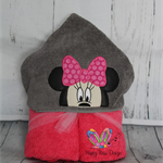 Girl Mouse Hooded Towel