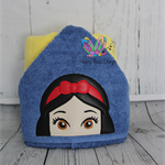 Apple Princess Hooded Towel