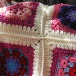 GRANNY handmade crochet cot blanket