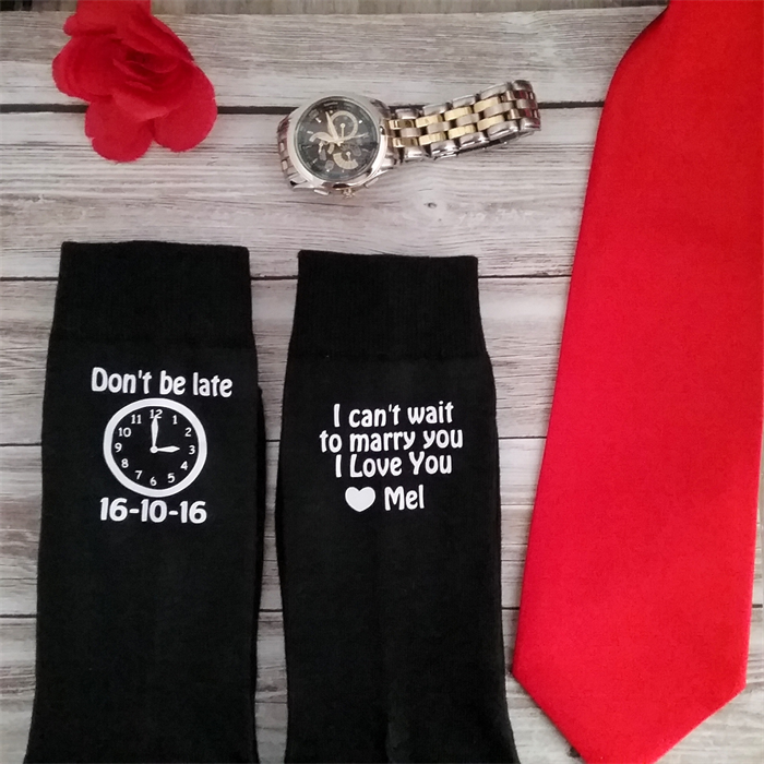 Personalised Wedding Gifts For Bride And Groom Australia : ... late;groom socks; personalised wedding socks;wedding socks; groom gift