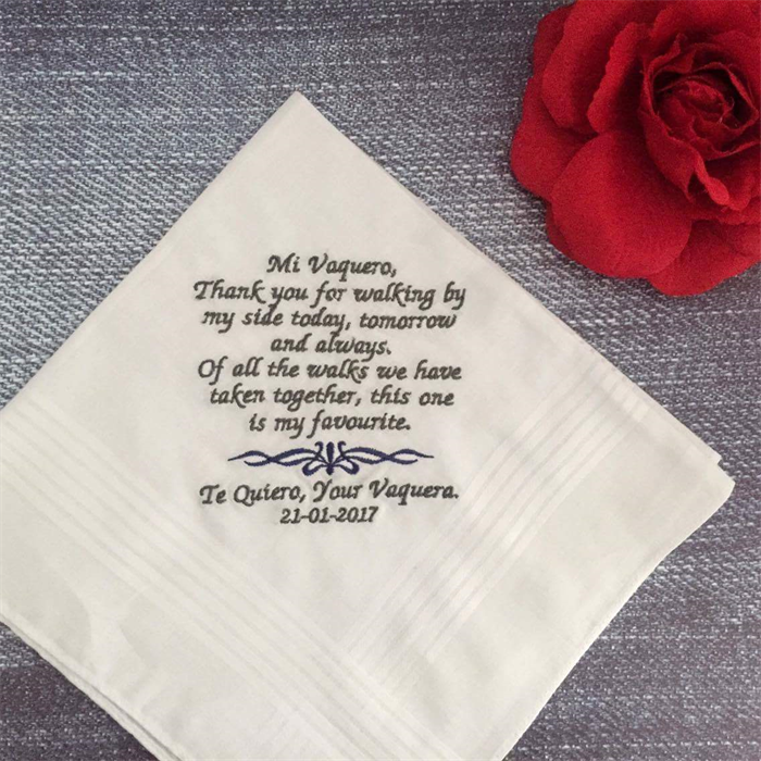 Gift For Dad On Wedding Day Handkerchief : ... Dad, Mother or Father in law, Grandparent, on a wedding day, something