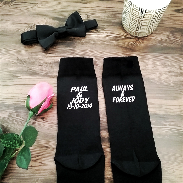 Personalised Wedding Gifts For Bride And Groom Australia : socks; personalised wedding socks;wedding socks; groom gift Bridal ...