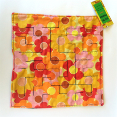 Large Sensory Marble Maze - orange daisy / flower - fidget tool, special needs