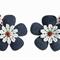 Strawberry Hair Clips - Denim Flower Polka Dots Infant Toddler Girls