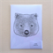 A4 art print - limited edition baby wombat head, black and white digital print.