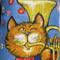 Metro Retro 'Strike up the Band' Vintage Tea Towel Apron. Birthday, Mother's Day