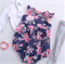 Ring o a Roses Floral Baby Doll Vintage Romper Playsuit