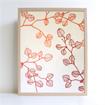 A4 art screen print - limited edition 'fagus' design (nothofagus gunnii) copper