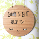 Wooden Bamboo Door / Wall hanging {Good Night Sleep Tight}